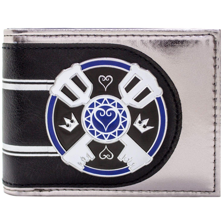 Kingdom Hearts Logo delle chiavi Argento Portafoglio