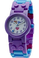 LEGO Watches Olivia Kids Buildable Watch with Link Bracelet and Minifigure