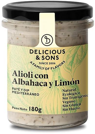 Delicious & Sons Alioli con Albahaca y Limón Ecológico 180g