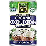 Native Forest Organic Premium Coconut Cream Unsweetened, 5.4 Fl Oz (Pack of 12)