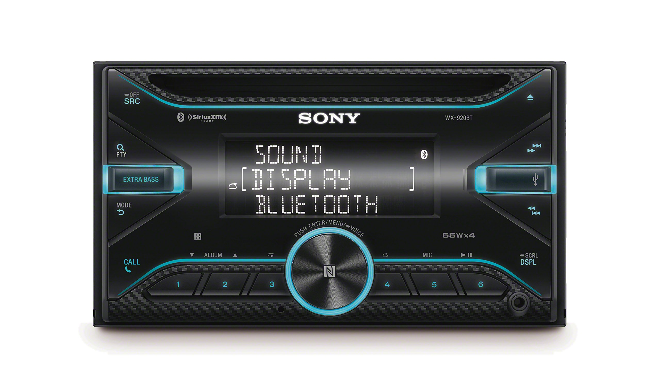 Sony WX920BT 2-DIN CD Receiver with Bluetooth