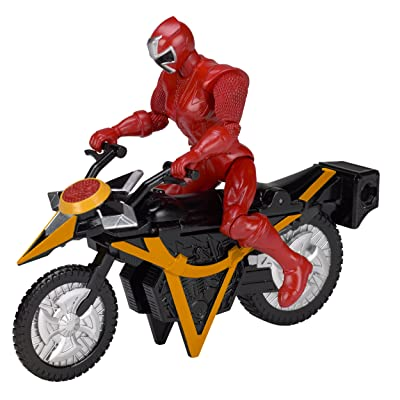 Power Rangers Ninja Steel Power Rangers Mega Morph Cycle with 5-Inch Red Ranger Figure: Toys & Games