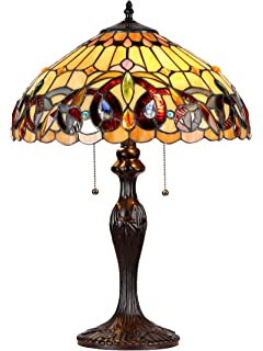 Tiffany style stained glass table lamp granduer w 20 shade chloe lighting ch33353vr16 tl2 serenity tiffany style victorian 2 light table lamp with aloadofball Gallery