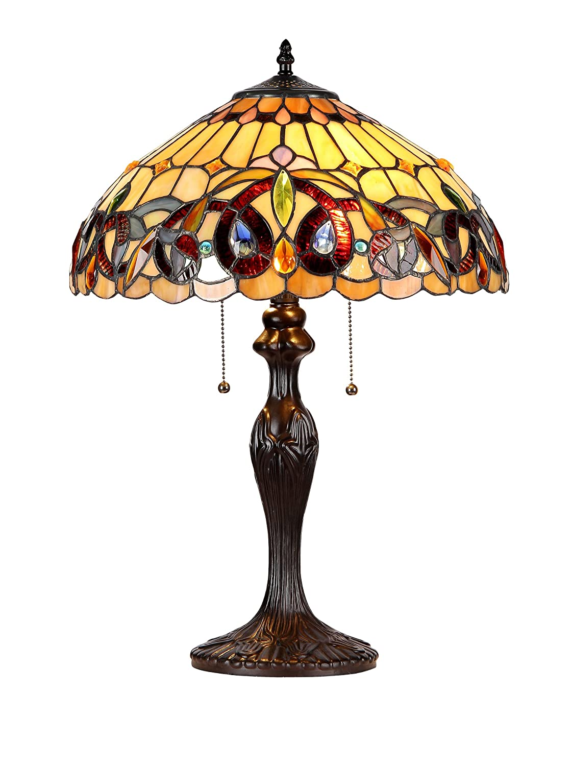 Chloe Lighting CH33353VR16 TL2 Serenity Tiffany Style Victorian 2 Light Table  Lamp With 16 Inch Shade     Amazon.com