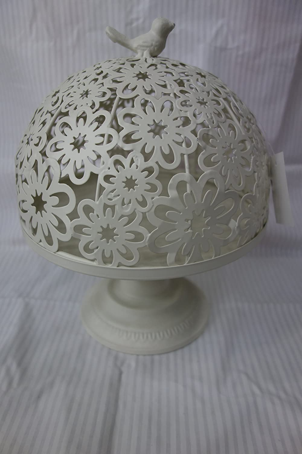 French Style Cake Stand with Cover, Shabby Chic, Unique Metallic Cake Stand hadaaya HK14012