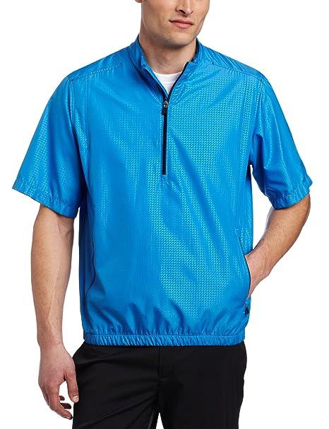 b9188d7a4478d adidas Golf Men's Climaproof Wind Zip Shirt