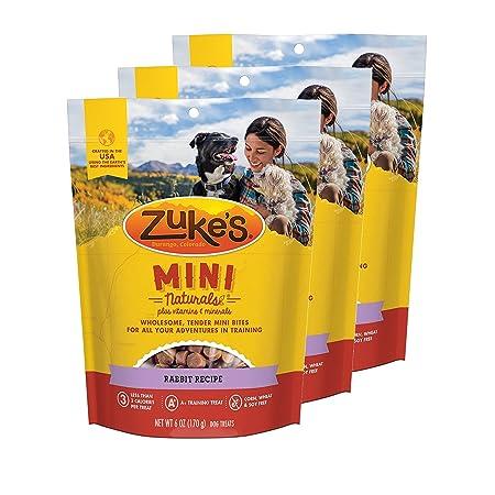 Zuke s Mini Naturals Dog Treats Rabbit Recipe 6 oz 3 Pack