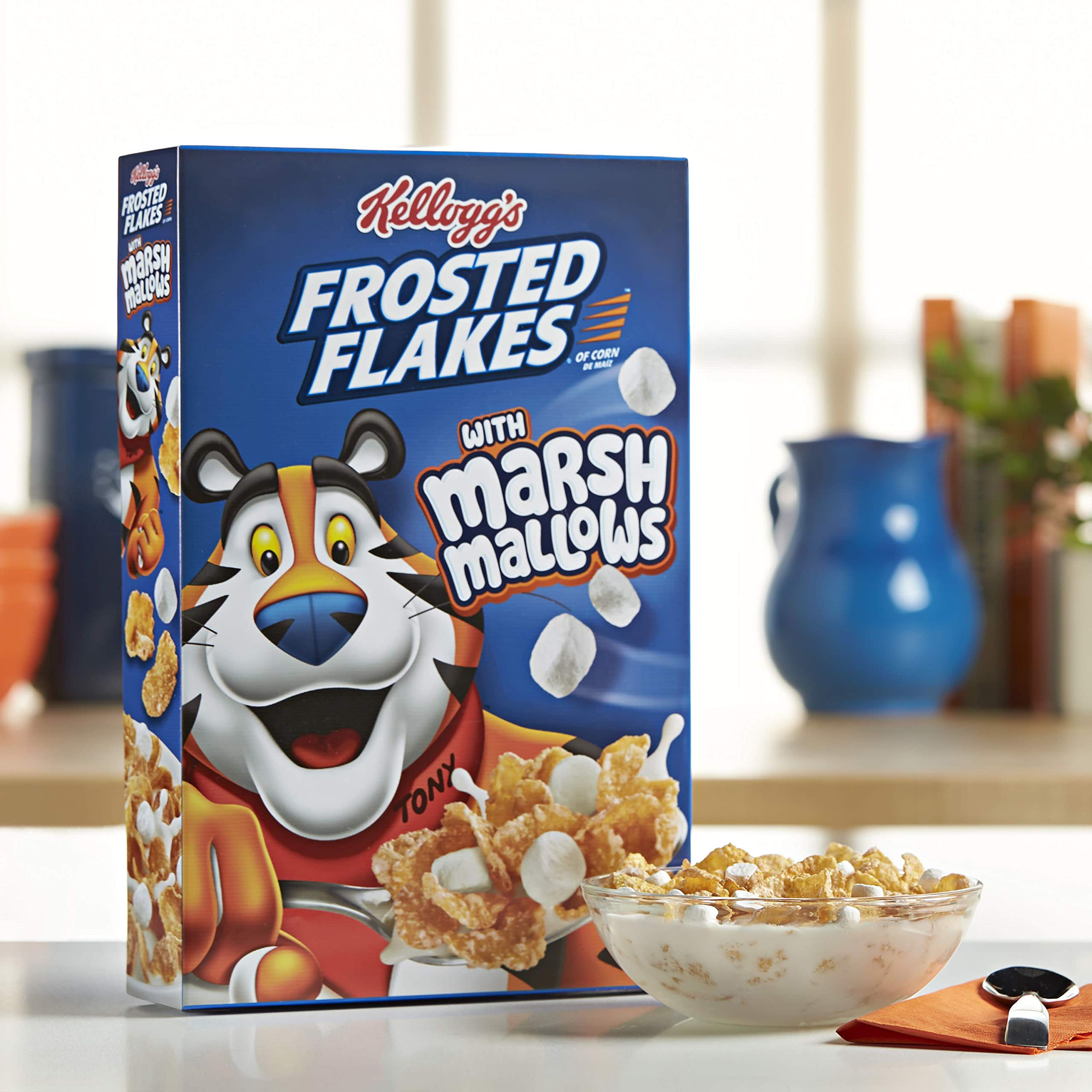 Kellogg's Breakfast Cereal, Frosted Flakes with Marshmallow, 13.6 oz Box(Pack of 12) by Kellogg's (Image #5)