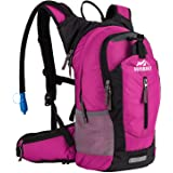 RUPUMPACK Insulated Hydration Backpack Pack with 2.5L BPA Free Bladder, Lightweight Daypack Water Backpack for Hiking Running