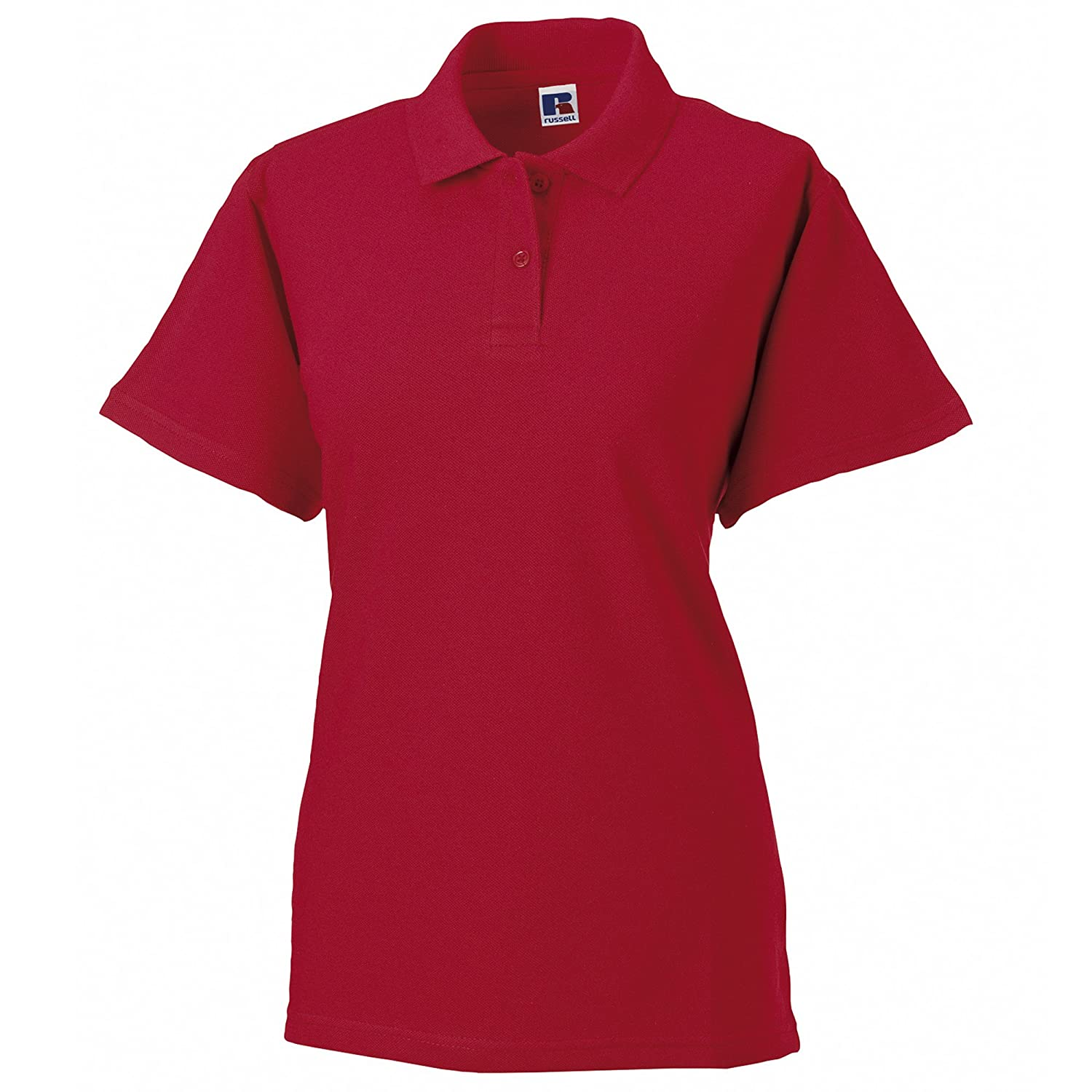 Russell Europe Womens//Ladies Classic Cotton Short Sleeve Polo Shirt