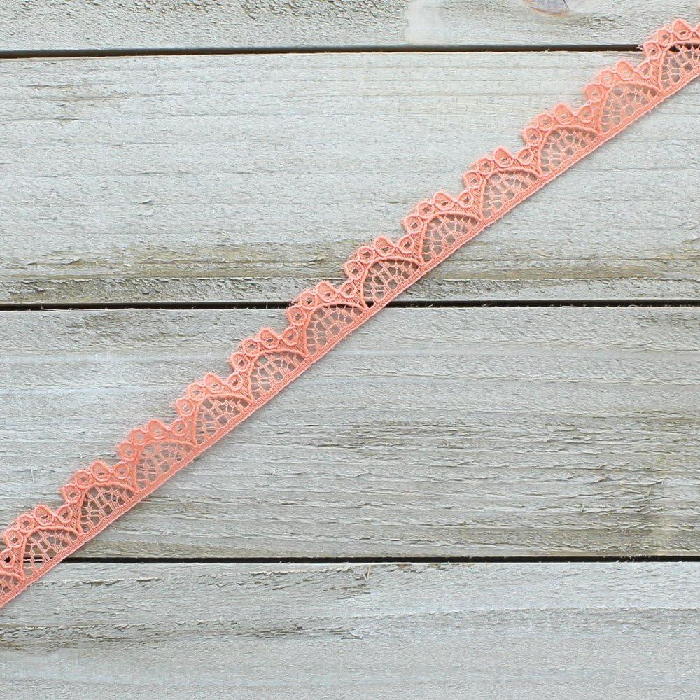 3//8 Vintage French Lace Ribbon Trim Aqua 5yd