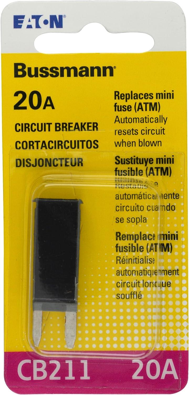 Buss Automotive Type I ATC 20 Amp Circuit Breaker # UCB-20 Set of 2