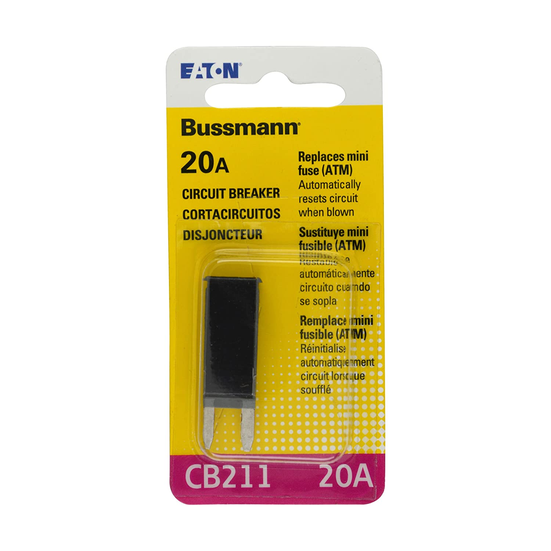 Bussmann Bp Cb211 20 Rp Amp Type I Atm Mini Circuit Buss 5 Push To Reset Boat Breaker Switch Great Lakes Automotive