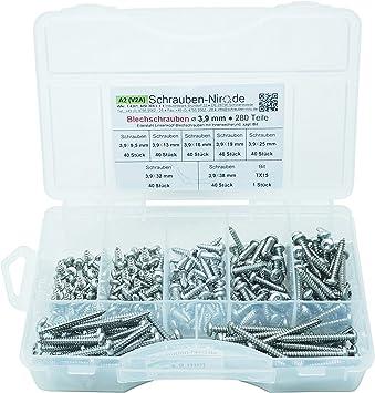 50 Linsenkopf-Blechschrauben Edelstahl 3,5 x 13 mm /• ISO 14585 // DIN 7981 /• Linsenblechschraube mit Innensechsrund T15 /• Werkstoff A2 Torx VA // V2A