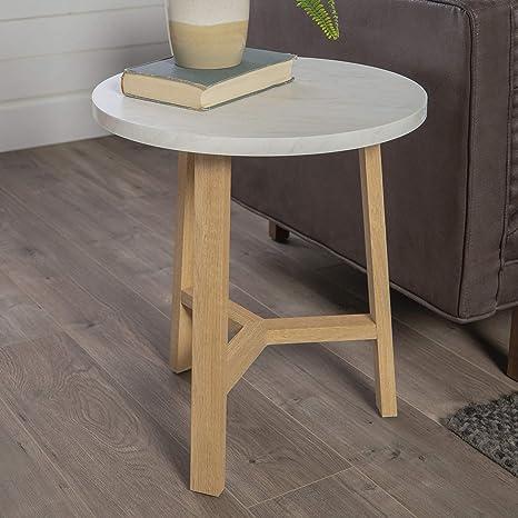 WE Furniture AZF20EMSTLO Mid-Century Modern Side End Table for Living Room,  20\