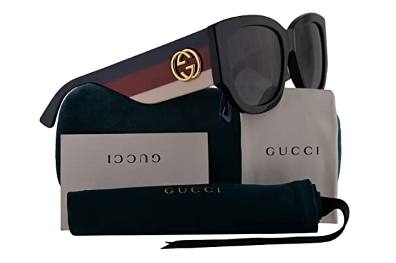 7b6f9210ea7 Gucci GG0276S Sunglasses Black w Grey Gradient Lens 53mm 001 GG0276 S GG  0276 S GG 0276S  Amazon.co.uk  Clothing
