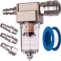 luchtfilter, water- en olieafscheider, 1/4 inch aansluiting, in set met 4 snelkoppelingen en een teflonband, voor…