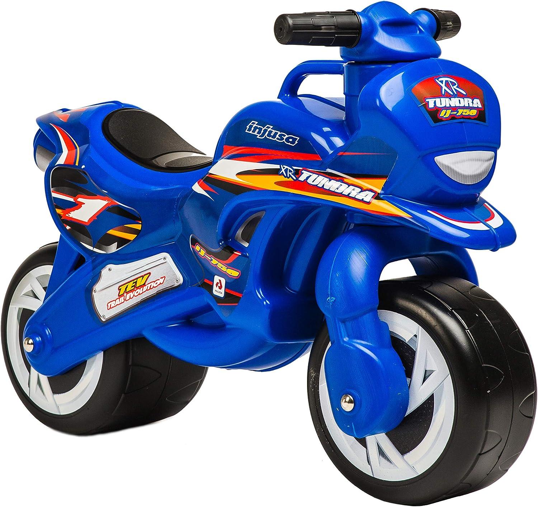 INJUSA (195/000) Moto Correpasillos Tundra, color azul, 12m+ (FABRICANTE