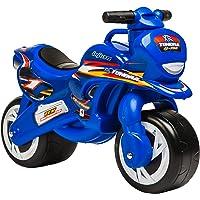 INJUSA - Moto Correpasillos Tundra Azul con Ruedas Anchas y Asa de Transporte Recomendado a Niños +18 Meses
