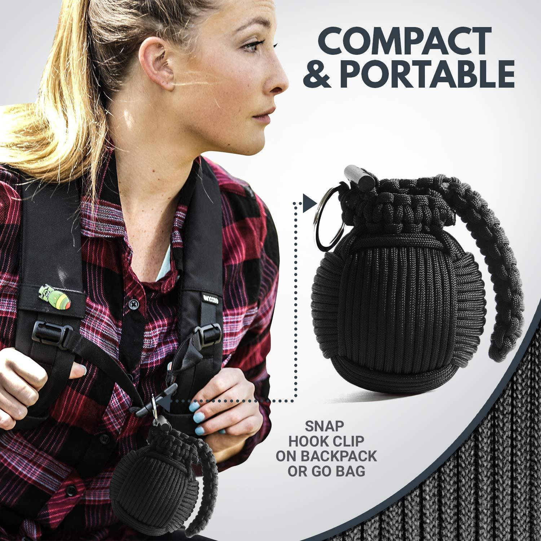 Holtzman's Survival Kit Paracord Grenade The #1 Best 48 Tool Emergency kit (Solid Black) by Holtzman's Gorilla Survival (Image #7)