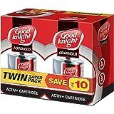 Good knight Plastic Advanced Activ+ Liquid Refill Twin Pack (Red) (45 ML x 2) - 90 ML