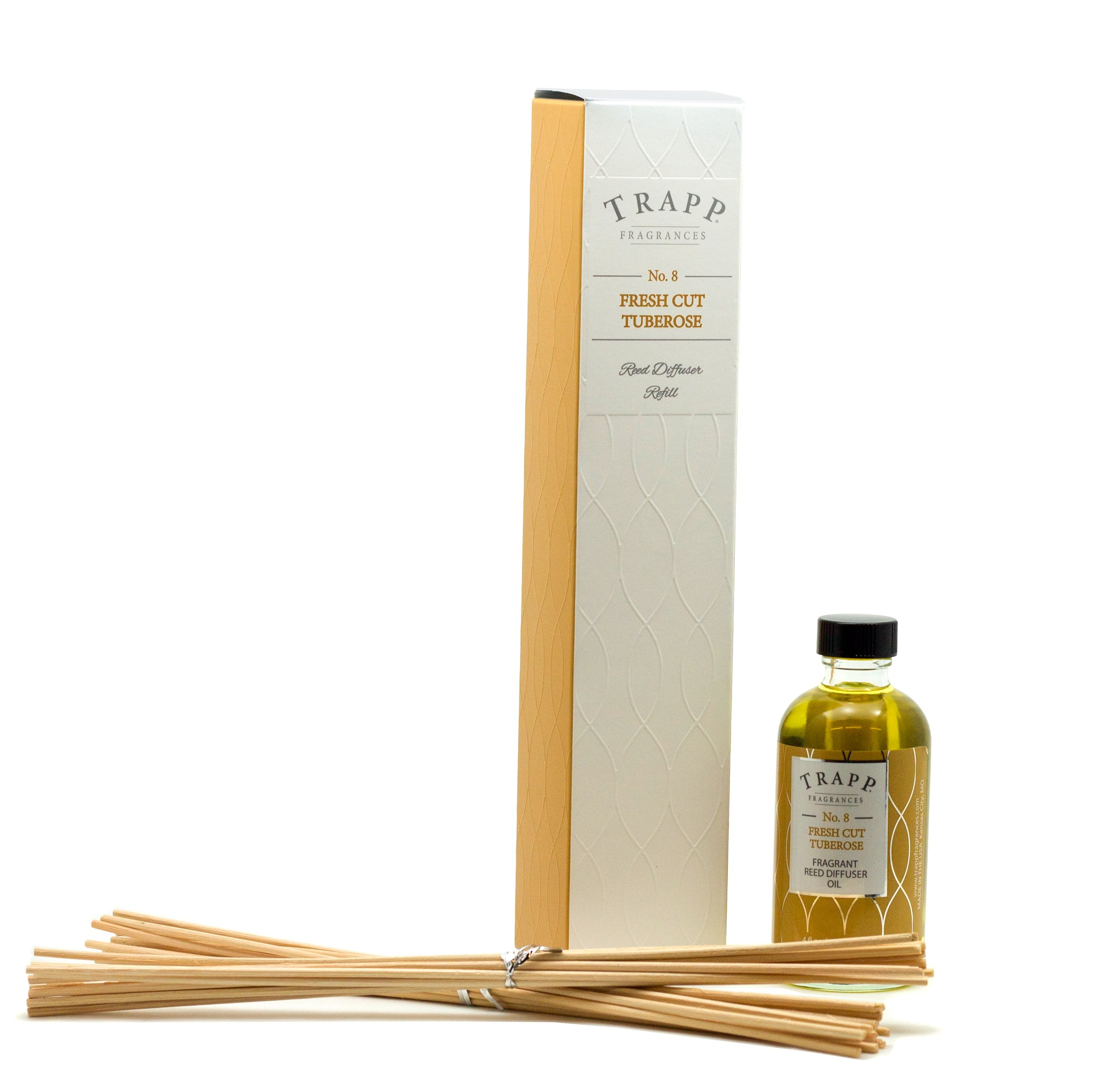 Trapp Candles Reed Diffuser Refill Kit, No. 8 Fresh Cut Tuberose, 4-Ounce