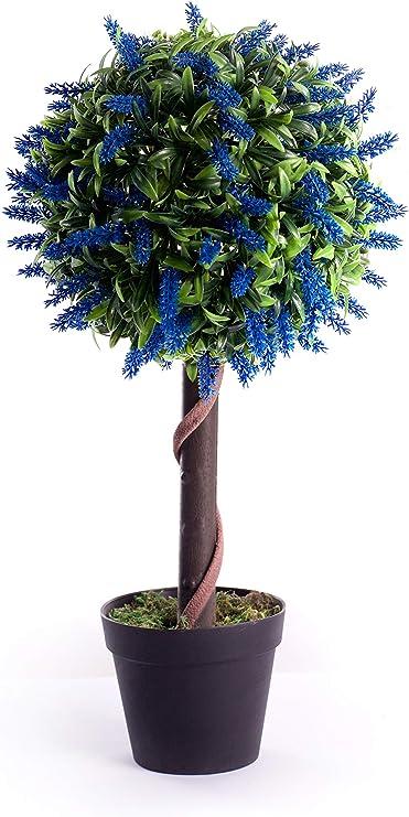 Best Artificial 60 cm lavanda bola árbol planta jardín oficina invernadero tropical interior exterior (azul): Amazon.es: Hogar