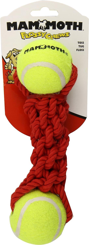 Mammoth Flossy Chew Braided Bone With 2 Tennis Balls 9 Inch Med