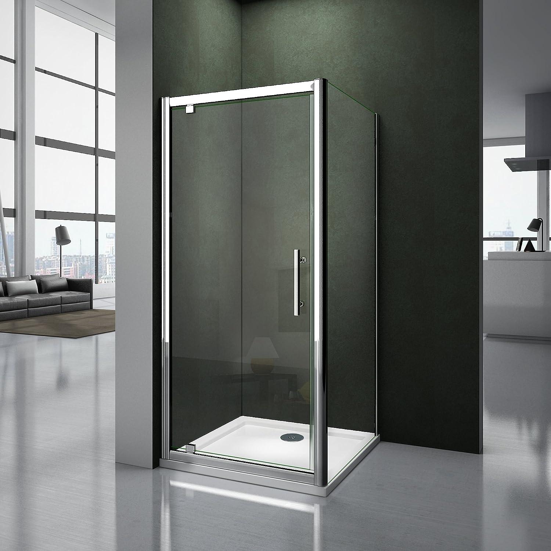 Puerta de ducha 185 cm puerta pivotante de cabina de ducha cristal Securit: Amazon.es: Bricolaje y herramientas