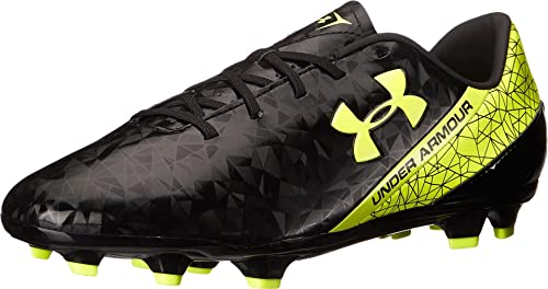 Under Armour Men s UA SF Flash FG Black High-Vis Yellow Athletic Shoe ae7ea1172e858