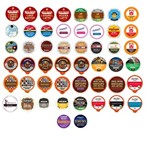 Perfect Samplers Premium Coffee Variety Pack - Enjoy 50 Unique Coffee Samples From The Top Brands In The Industry - Compatible with Keurig K Cups Brewers - 50 Cups, Coffee Variety Pack, 50Count