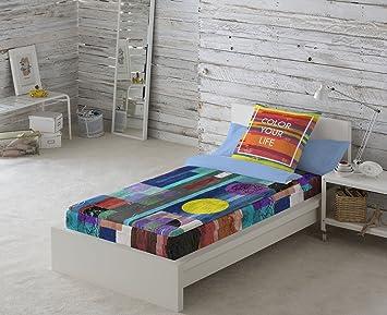 NATURALS Saco Nórdico Sin Relleno Colorlife MULTICOLOR Cama 90 (90 x 190/200 + 45 x 110 cm): Amazon.es: Hogar