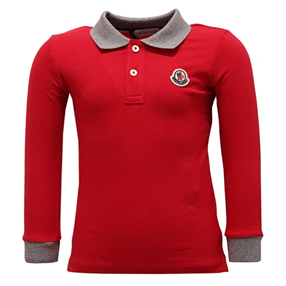 MONCLER 2276V Polo Bimbo Maglia Red Polo t-Shirt Kid: Amazon.es ...
