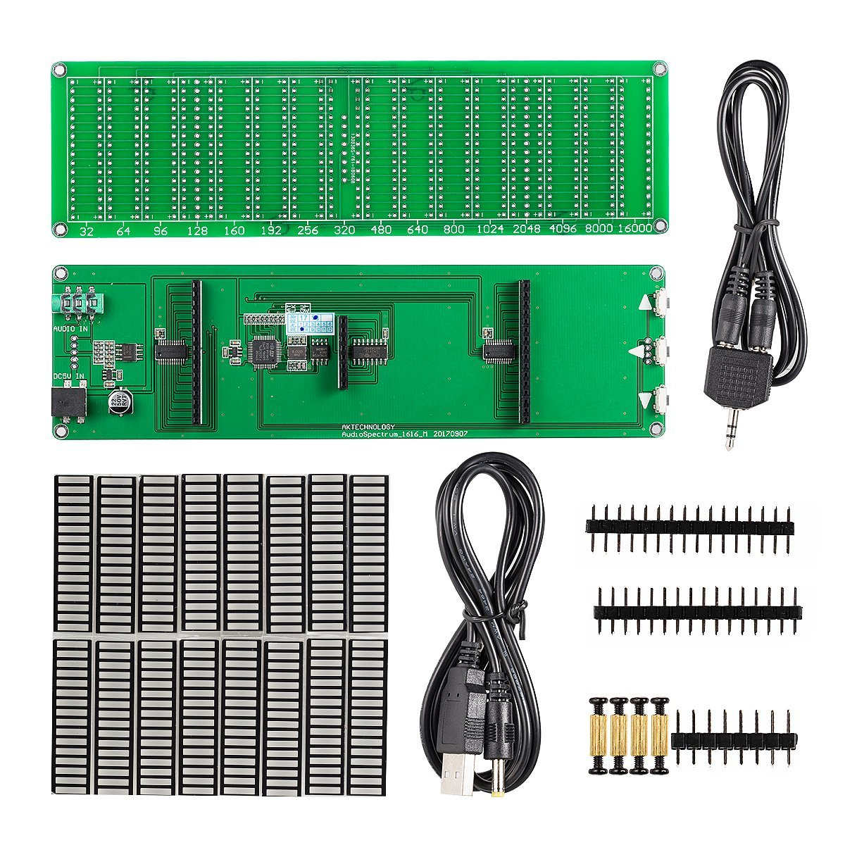 Nobsound 1616 Led Audio Spectrum Level Indicator Vu Meters Music Meter Product Details