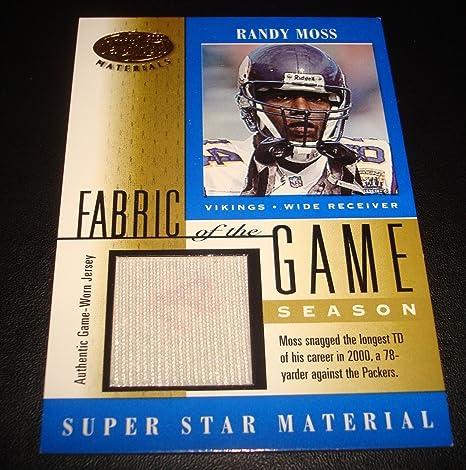 brand new a063a 76ba0 Amazon.com: Randy Moss Vikings Marshall 2001 Leaf Certified ...