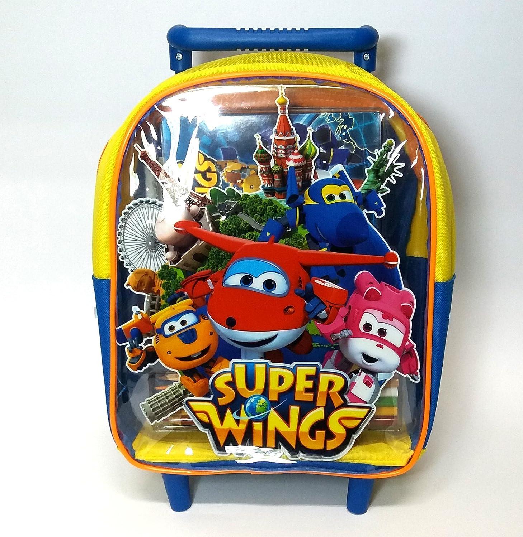 Trolley sac à dos asile Super Wings + Couleurs Esprit Album