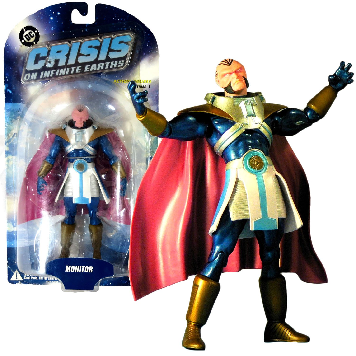 DC Direct Year 2006 Series 1 DC Comics Crisis on Infinite Earths 7 Inch Tall Action Figure - MONITOR with Display Base B0116QC3DI
