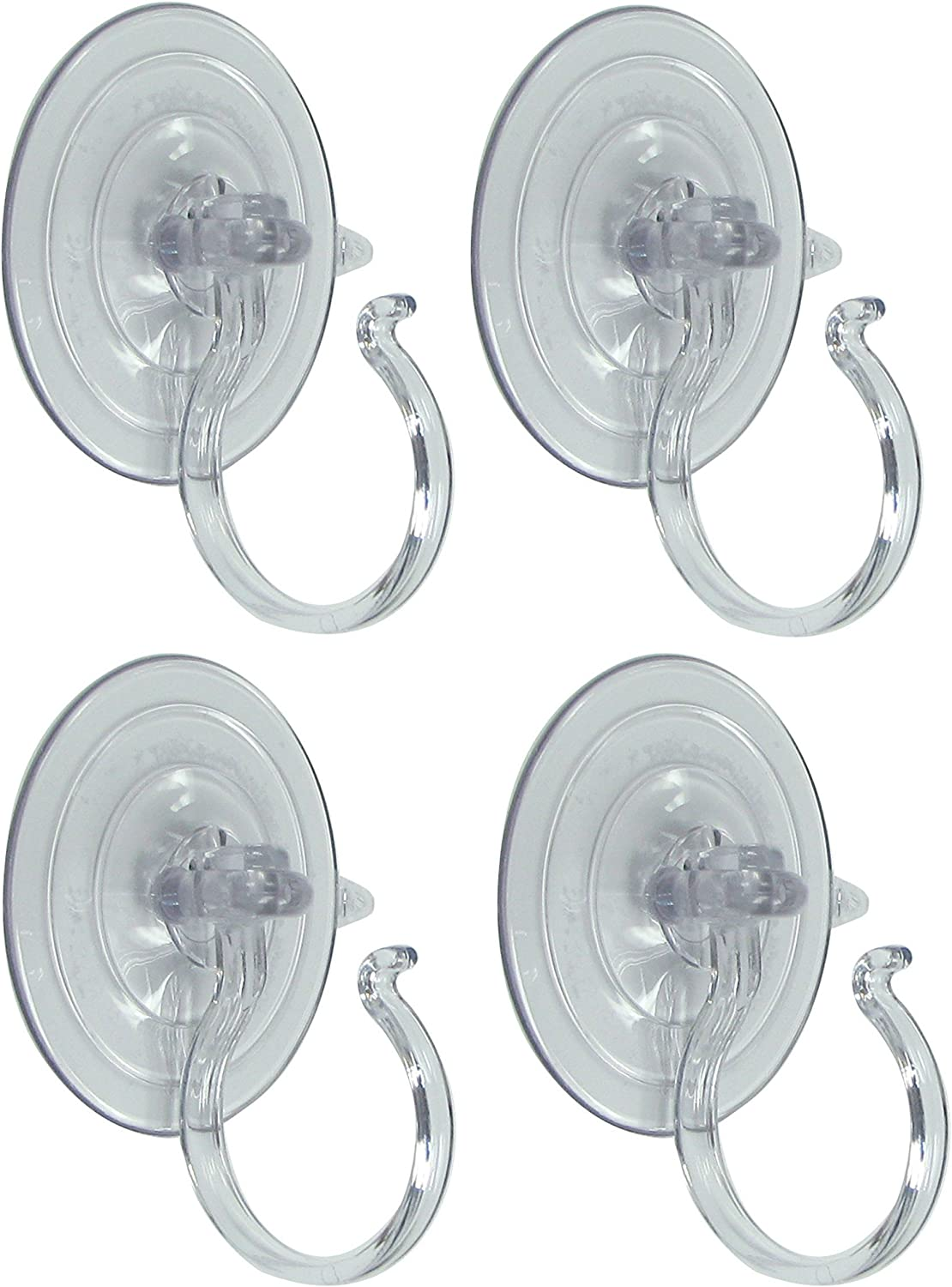 Holiday Joy - 4 Wreath Holders - All Purpose Giant Suction Cups - Perfect Wreath Hangers