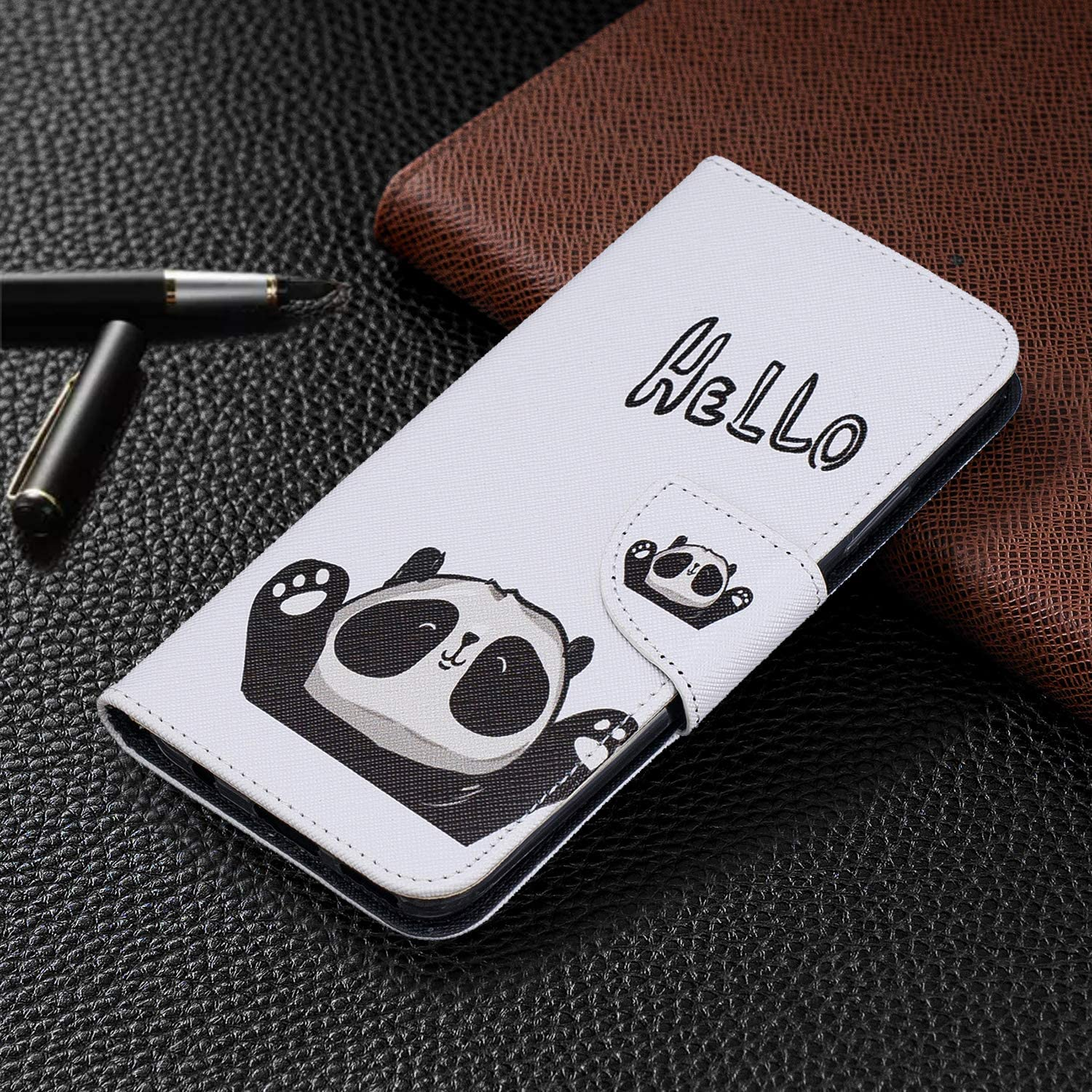 LOBFE090326 L6 Shockproof Flip Case Cover for Huawei Mate30 Lite Lomogo Leather Wallet Case for Huawei Mate 30 Lite//nova 5i Pro with Stand Feature Card Holder Magnetic Closure