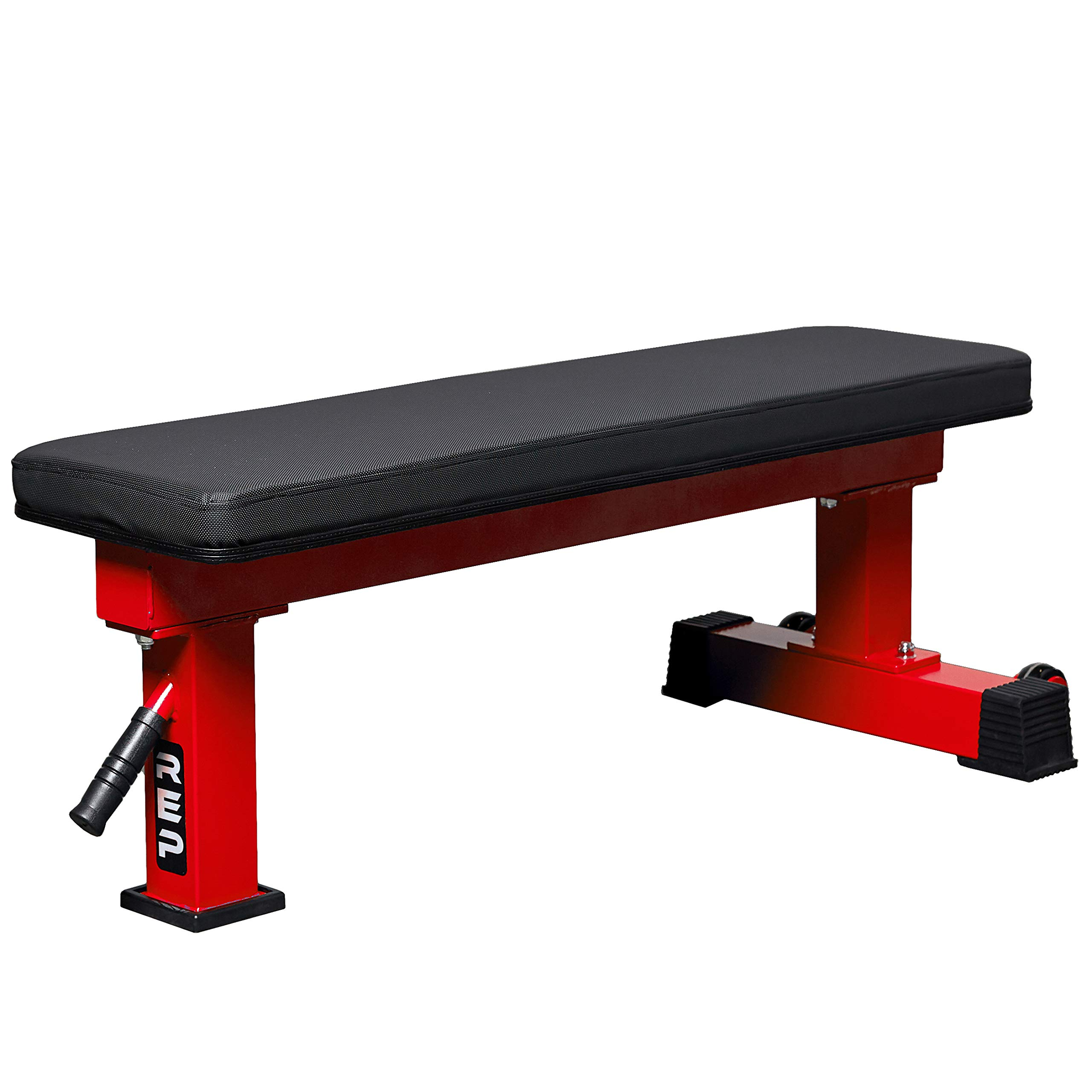REP FITNESS FB-4000 Competition Light Flat Bench - Red by REP FITNESS