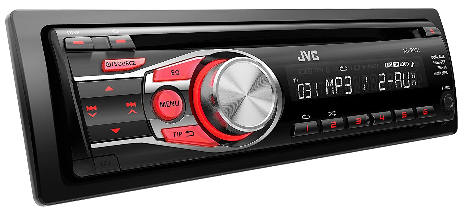JVC KD-R331 CD Car Stereo with Front AUX Input CD/MP3 Playback:  Amazon.co.uk: Electronics