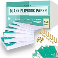 Blank Flip Book Paper With Holes, 450 Sheets Animation Drawing Flipbook Paper Set Works With Flip Book Kit Light Pad…