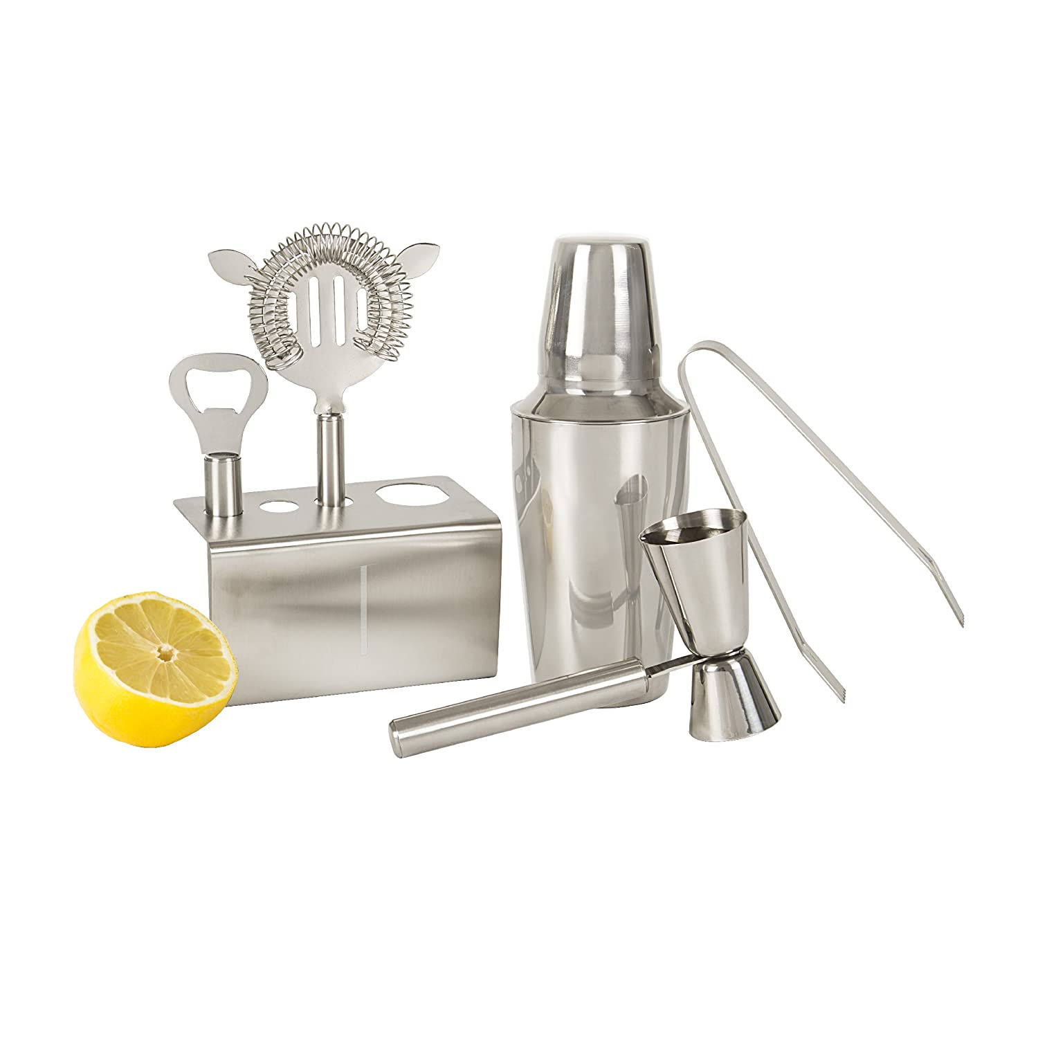 Cathys Concepts Personalized Stainless Steel Mixology Set Letter T