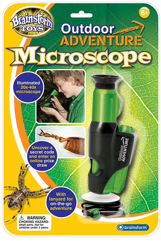 Brainstorm Ltd E2014 Toys Outdoor Adventure Microscope Eureka Toys