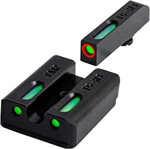 TRUGLO TFX Pro Tritium and Fiber Optic Xtreme Handgun Sights for Taurus Millenium G2, 709 Slim, 740 Slim