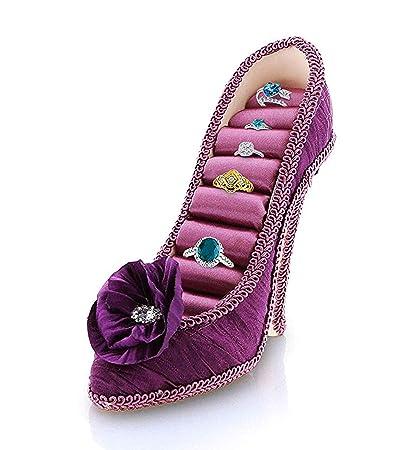 c46dfe7fcf3dc9 Amazon.com  Mozlly Fashionable Purple High Heel Sparkly Lace Shoe ...