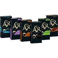 L'OR Kapseln Vielfaltspaket - 60 Nespresso (R)* kompatible Kaffeekapseln aus Aluminium alle 6 Sorten (6x10 Kapseln), 312 g