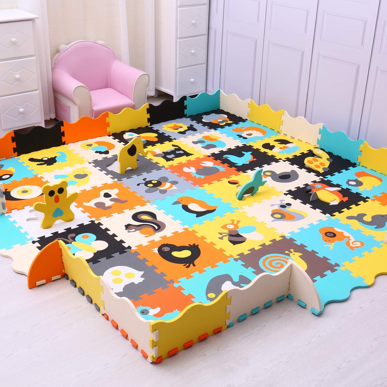 9 Piece YP-11b9F16 Yostrong Beb/é Alfombra Suelo Goma Eva Bebe Grande Alfombras para Bebes Puzzle Grandes para Ni/ños 1.3M/²
