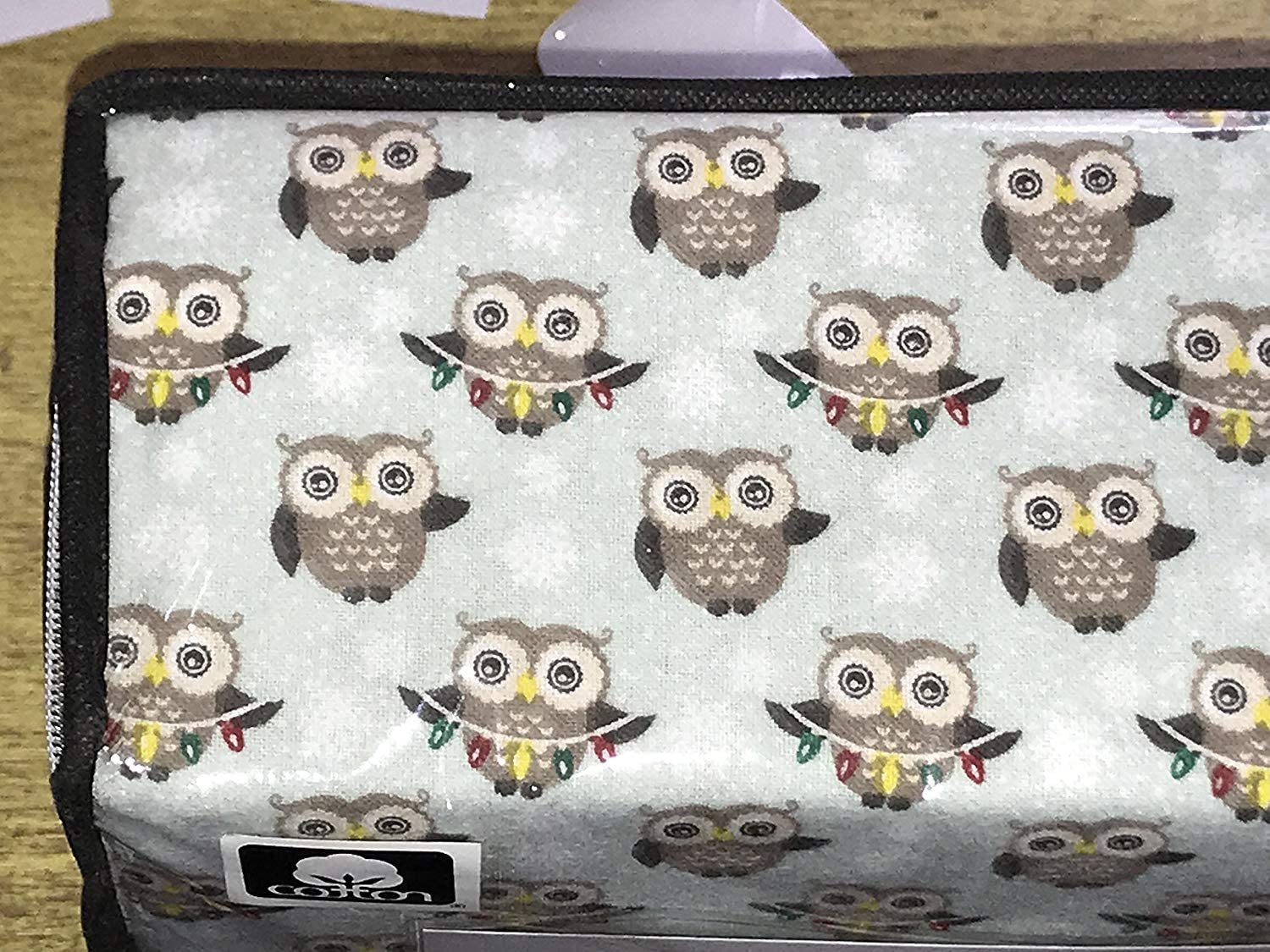 Full Size Snowfakes Christmas Lights Sierra Lodge Christmas Owls Cotton Flannel Sheet Set Sheet Pillowcase Sets