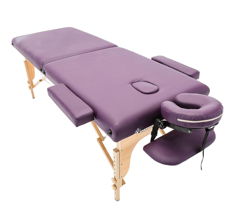 Massage Imperial® Charbury - Lettino da massaggio portatile Deluxe - 2 zone - Pannelli Reiki - Leggero - Colore : Viola C-11 Charbury